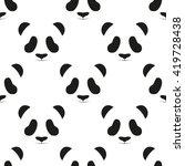 panda head seamless pattern | Shutterstock . vector #419728438