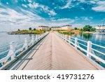 Wooden Bridge Leading To...
