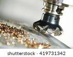 industrial metalworking cutting ... | Shutterstock . vector #419731342