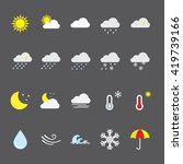 simple weather icons.... | Shutterstock .eps vector #419739166