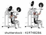pull on deltoids. 3d... | Shutterstock . vector #419748286