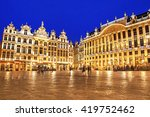 grand place in brussels in... | Shutterstock . vector #419752462