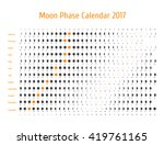 vector astrological calendar... | Shutterstock .eps vector #419761165