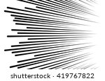 comic speed lines background... | Shutterstock .eps vector #419767822