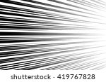 comic speed lines background... | Shutterstock .eps vector #419767828
