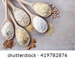 wooden spoons of various gluten ... | Shutterstock . vector #419782876