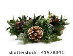 green christmas wreath isolated ... | Shutterstock . vector #41978341