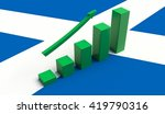 arrow pointing up on a flag of... | Shutterstock . vector #419790316