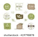 collection of organic food... | Shutterstock .eps vector #419798878