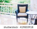 beautiful luxury pillow on sofa ...   Shutterstock . vector #419833918