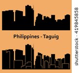 taguig  philippines | Shutterstock .eps vector #419845858