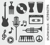 musical instruments   vector... | Shutterstock .eps vector #419846596