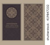 invitation  cards with ethnic... | Shutterstock .eps vector #419847232