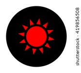 sun sign. red vector icon