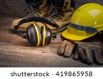 standard construction safety | Shutterstock . vector #419865958