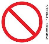 forbidden sign. | Shutterstock .eps vector #419866372