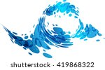 movement of water  stylized... | Shutterstock .eps vector #419868322
