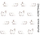 vector seamless pattern of cute ... | Shutterstock .eps vector #419875462