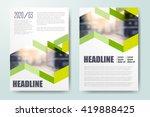 annual report leaflet brochure... | Shutterstock .eps vector #419888425