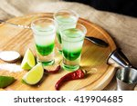 mexican alcoholic cocktail... | Shutterstock . vector #419904685