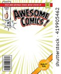 comic book cover template ... | Shutterstock .eps vector #419905462