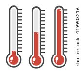 thermometer icon. | Shutterstock .eps vector #419908216