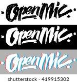open mic   logo for event ... | Shutterstock .eps vector #419915302