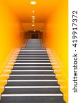 Long Gray Stairs With Many...