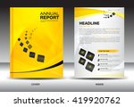 yellow annual report leaflet... | Shutterstock .eps vector #419920762
