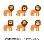 lions set | Shutterstock .eps vector #419930872