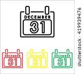 web line icon. calendar | Shutterstock .eps vector #419939476