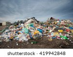 pile of waste at city landfill. ... | Shutterstock . vector #419942848