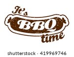 vector. grill sausage  it's... | Shutterstock .eps vector #419969746