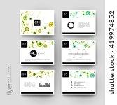 dna molecule vector brochure... | Shutterstock .eps vector #419974852