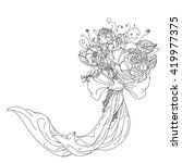 highly detailed  hand drawn... | Shutterstock .eps vector #419977375
