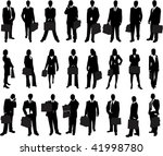 business man and woman holding... | Shutterstock .eps vector #41998780