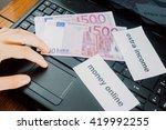 making money online. internet... | Shutterstock . vector #419992255