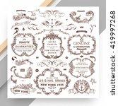 set of vintage decorations... | Shutterstock .eps vector #419997268