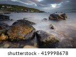 Big rocks in elgol harbor with...