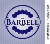 barbell denim background | Shutterstock .eps vector #420007435
