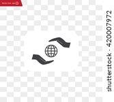 earth insurance web icon.... | Shutterstock .eps vector #420007972