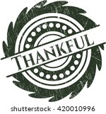 thankful rubber seal with... | Shutterstock .eps vector #420010996