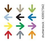 vector arrow icon  arrow icon... | Shutterstock .eps vector #420017362