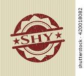 shy rubber grunge stamp | Shutterstock .eps vector #420018082