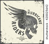 hurricane riders t shirt... | Shutterstock .eps vector #420025642