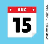 calendar icon flat august 15