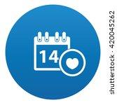 calendar icon design on blue...