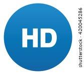 hd icon design on blue button...