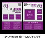 abstract flyer design... | Shutterstock .eps vector #420054796