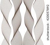 linear grid pattern  wave ... | Shutterstock .eps vector #420057892